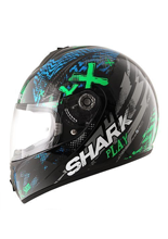 Kask Shark S600 PINLOCK PLAY Black Green Blue